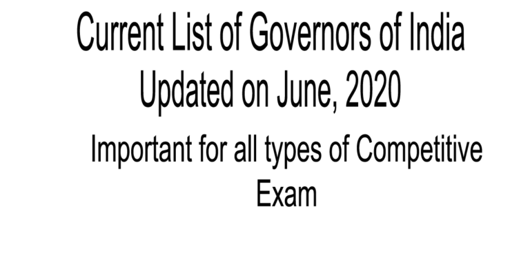 list of governors