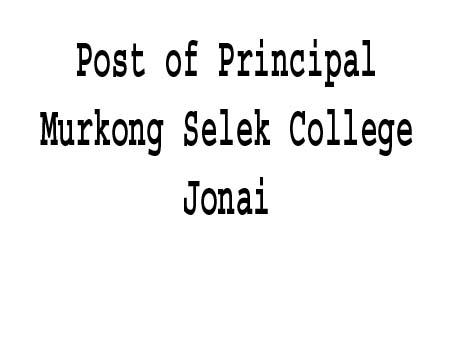 Post of Principal